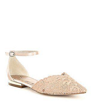 Trala Lace Ankle Strap d'Orsay Dress Flats Sa852NEhf
