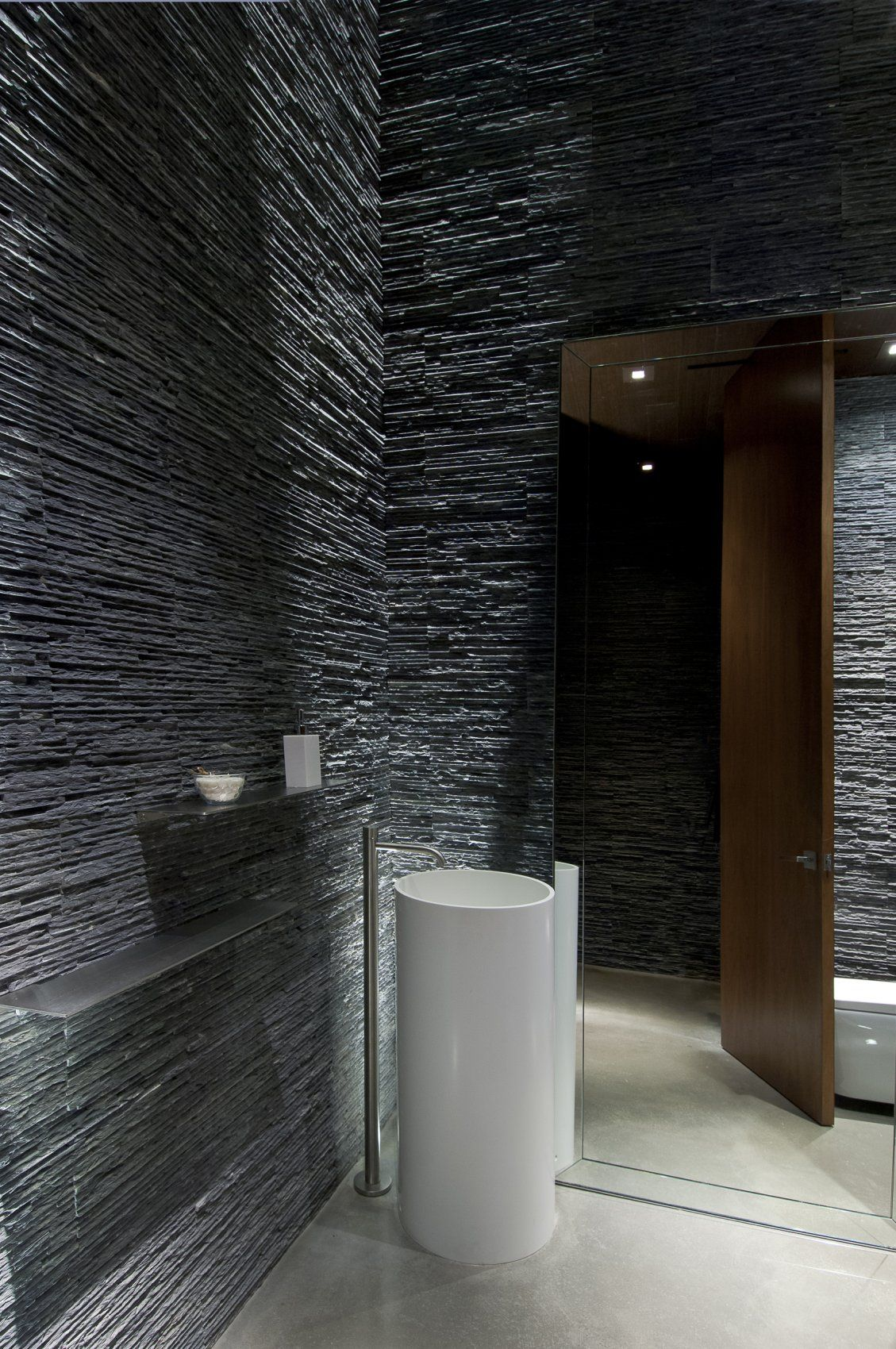 Contemporary Summit House In Beverly Hills by Whipple Russell ... for Ultra Modern Powder Room  104xkb