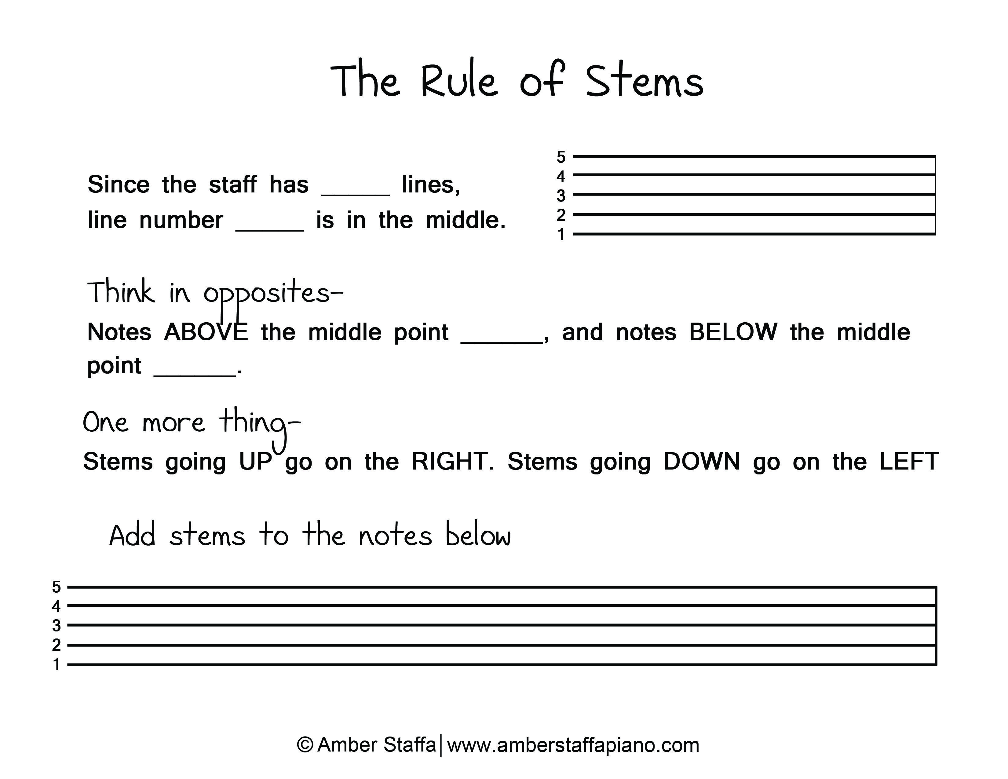 Rule Of Stems Music Theory Pinterest Music Theory Printable