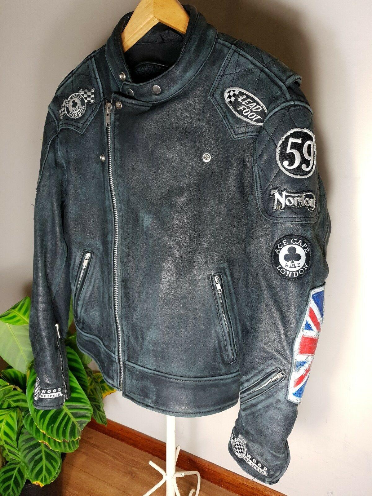 Vintage Norton Leather Motorbike Jacket Size L | Norton Club
