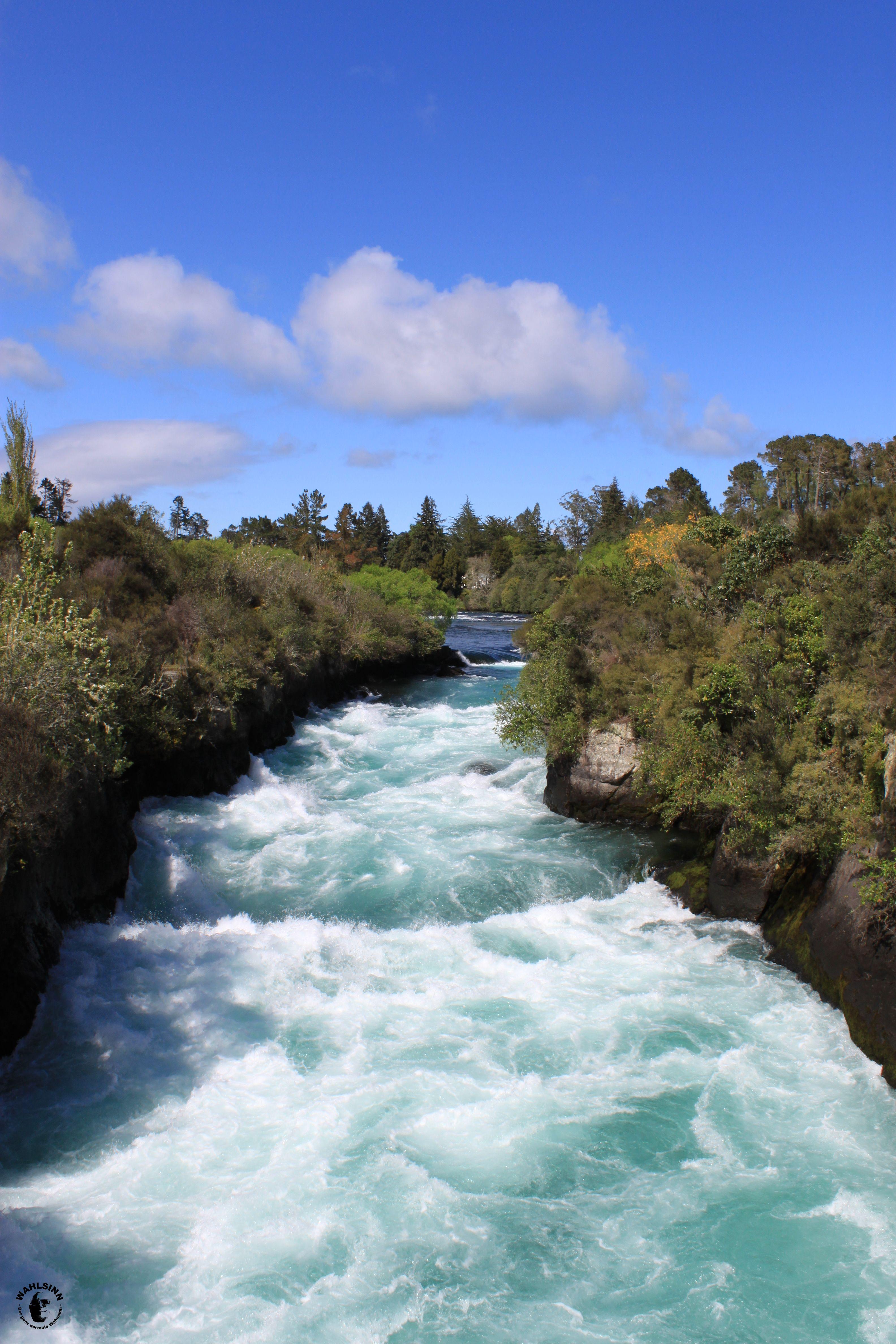 Die Huka Falls bei Lake Taupo (Neuseeland)