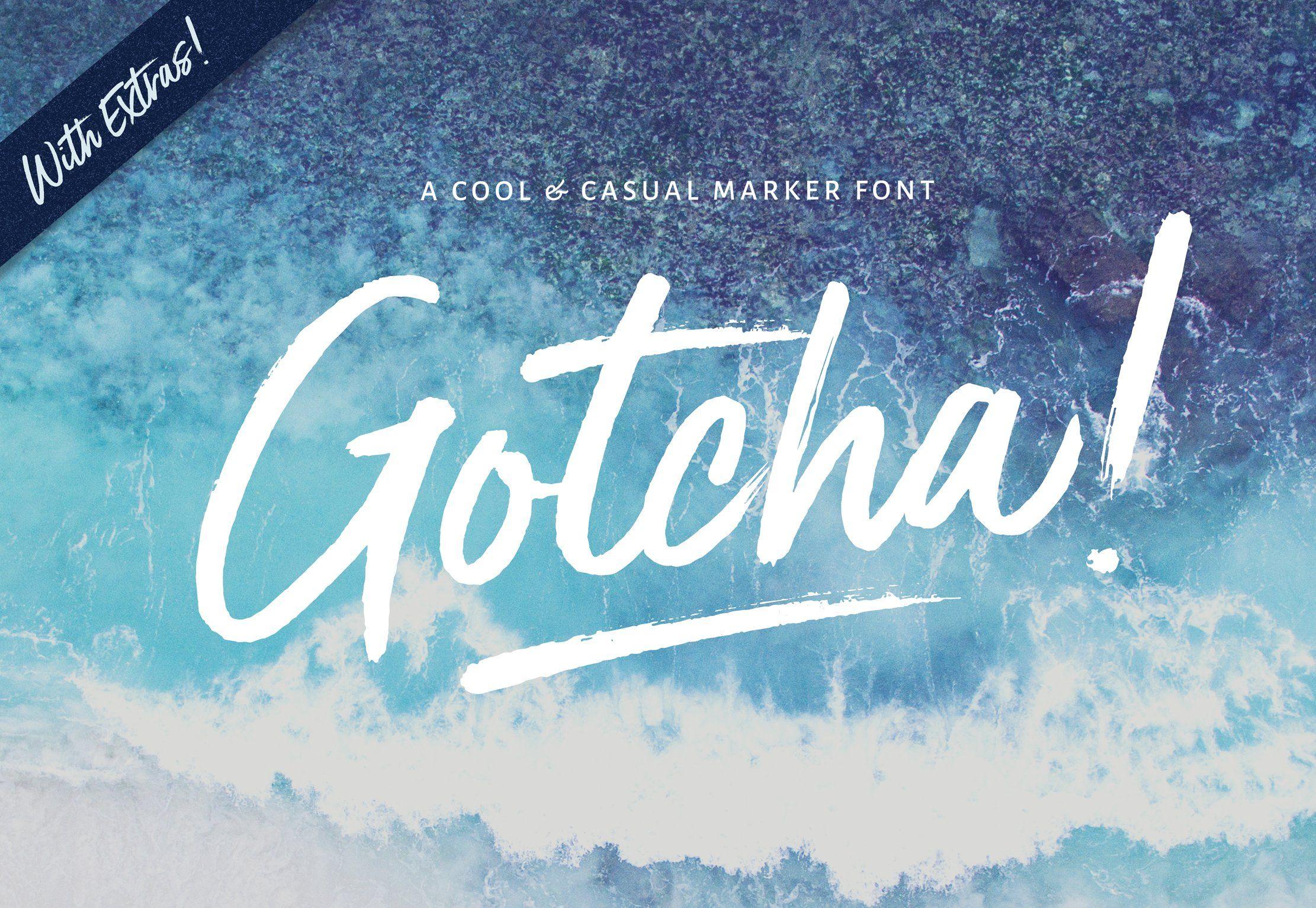NEW!Gotcha Marker Font + Extras New fonts, Script fonts