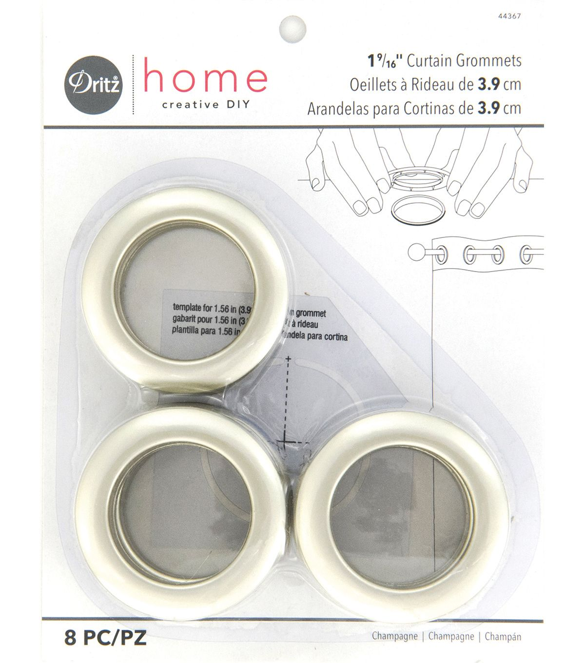 Dritz Home 1 56 Curtain Grommets 8pcs Brass Home Curtains