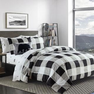 Adrien Lewis- Cozy Chalet 8 pcs Comforter Set (Full), Black