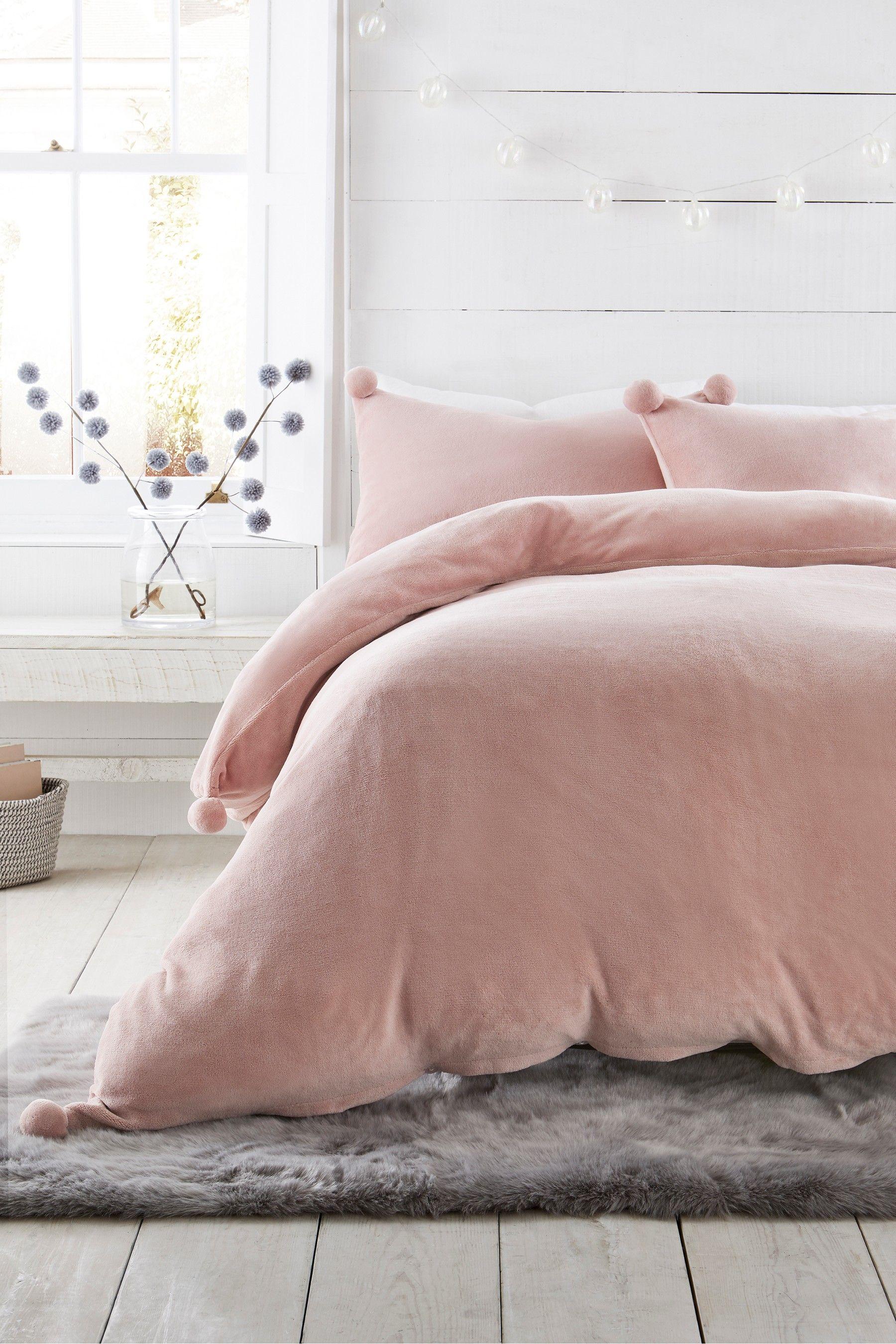 Pom Pom Duvet Cover and Pillowcase Set