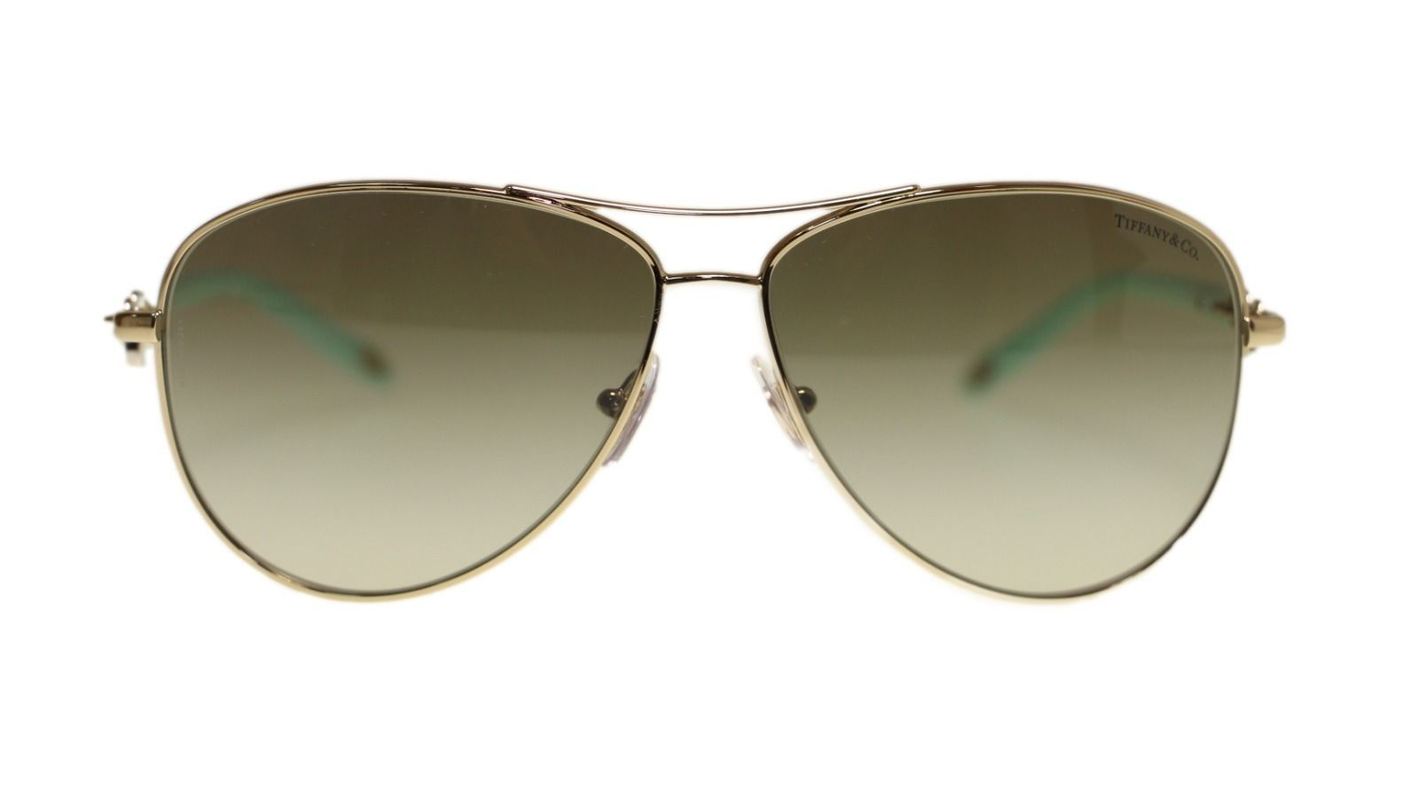 b4fcdbd1af6c NWT TIFFANY   CO. Sunglasses TF 3034 6021 3M Pale Gold   Green Gradient