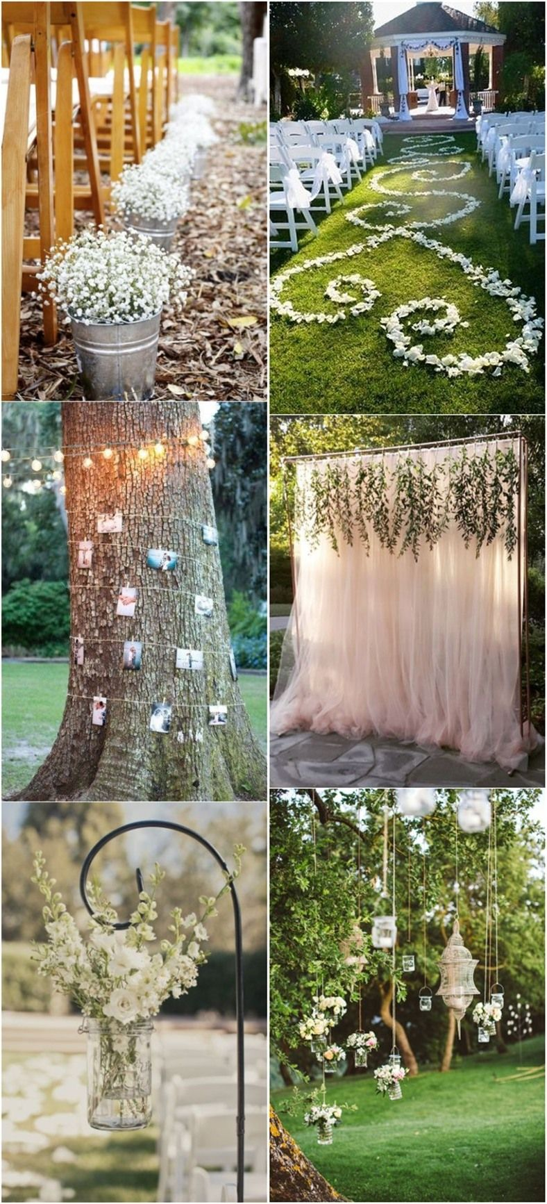 Garden wedding aisle decor   Genius Outdoor Wedding Ideas  Wedding Weddings and Wedding stuff