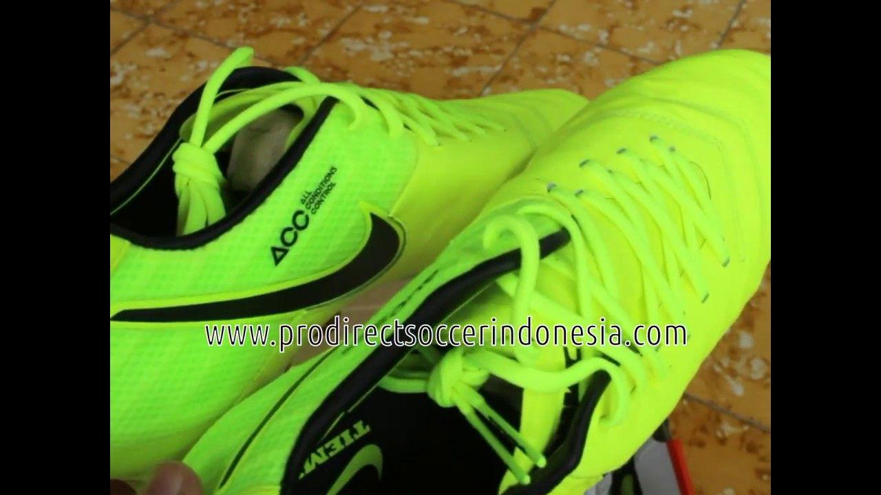 Sepatu Bola Nike Tiempo Legend Vi Fg Volt Black 819177 707