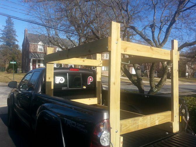 Easy Homemade Canoe Kayak Ladder And Lumber Rack For Your Pickup Truck