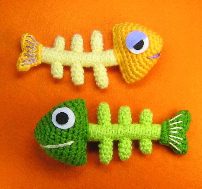 Fish Bone Skeleton Crochet Pattern | Tejido facil, Animales tejidos ...