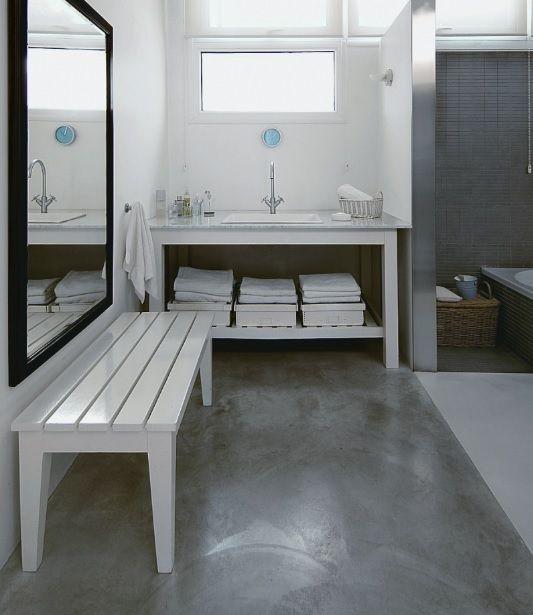 Concrete Bathroom Floor Ideas On Small Bathroom Pool House