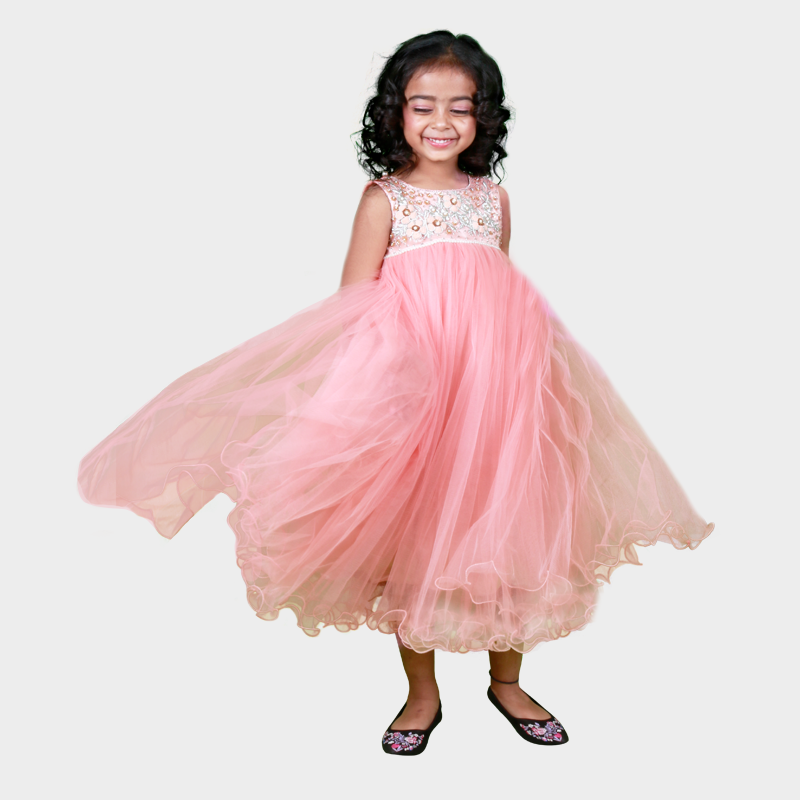 37eed3313c798 A perfect dress for the modern little gal. Behold your beauty with Pretty  melon party