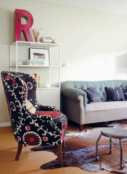 High Style: The Wingback Chair | Funky chairs, Eclectic ...