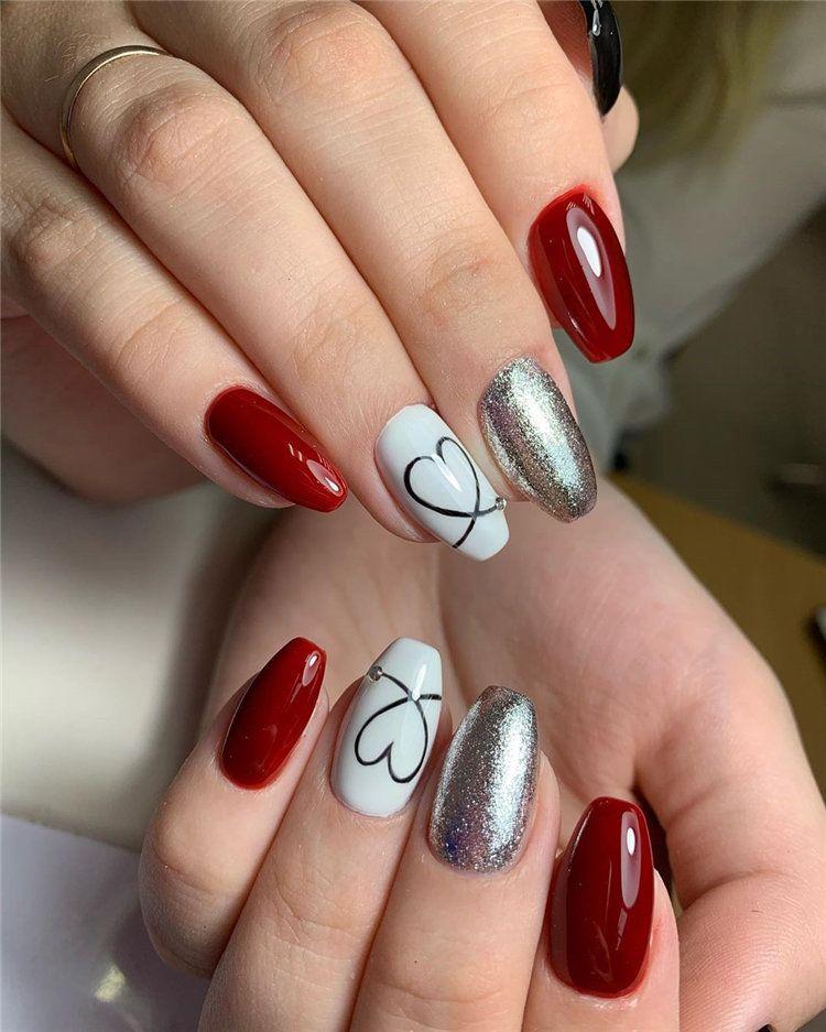 80 Unique And Classy Nail Designs In Autumn 2020 Styles Art Classy Nail Designs Classy Nails Nail Designs Valentines