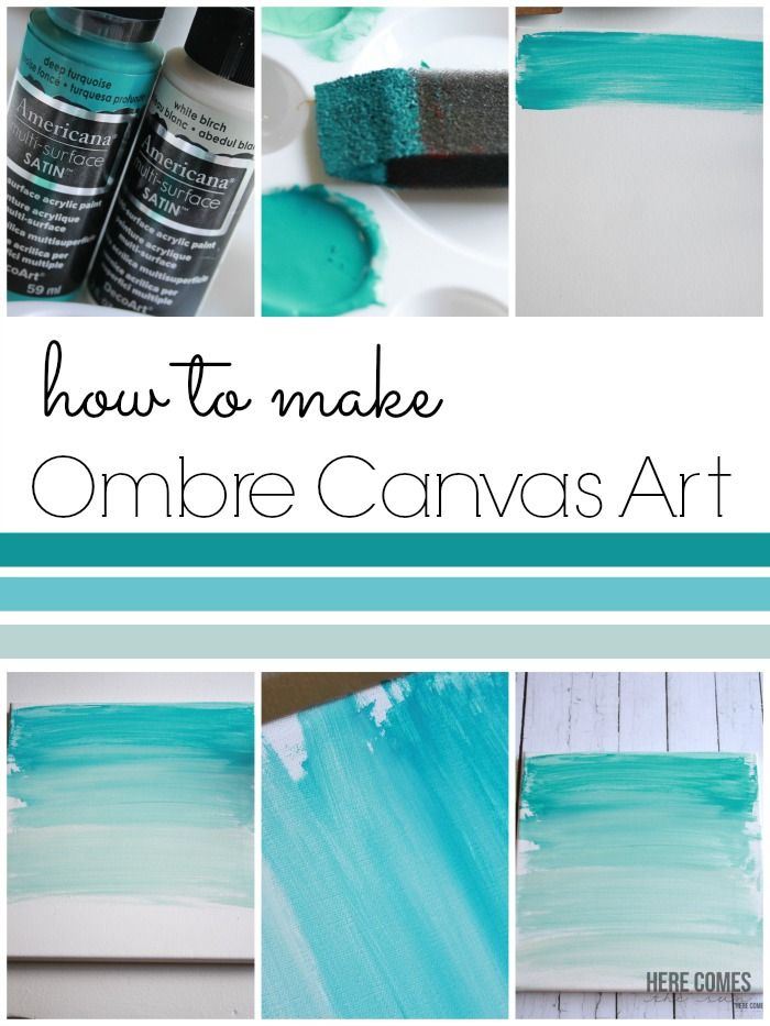 Ombre Canvas Art Diy Canvas Art Diy Canvas Canvas Crafts