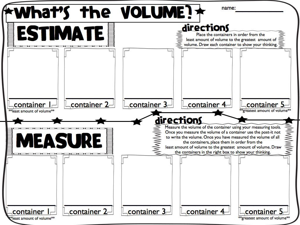 Volume And Capacity Worksheets & Teaching Resources | TpT