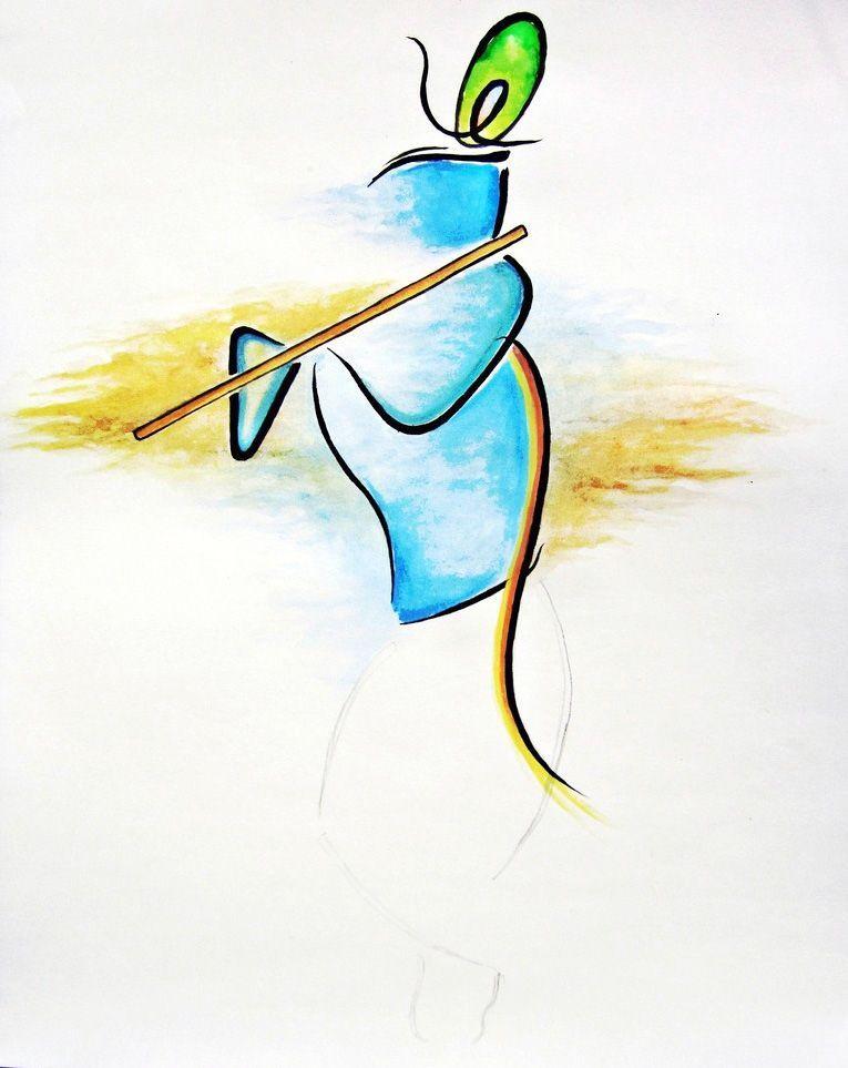 krishna flute with peacock feather painting krishna pinterest