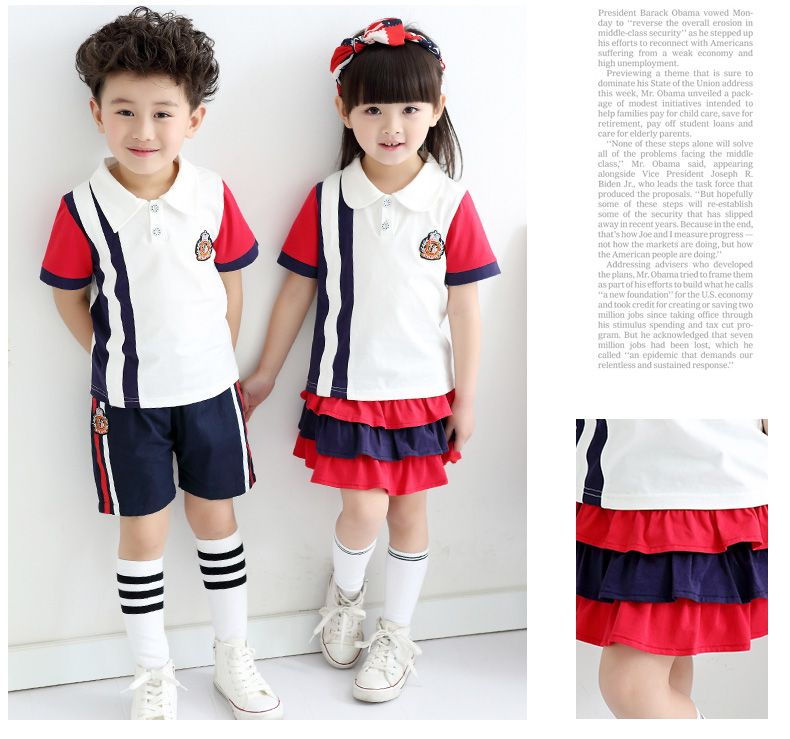 01de616f7e3 School clothes set for boys girls tennis kids sports suit summer uniforms  children age size 6 7 8 9 10 11 12 15 16 years-in Clothing Sets from Mother  & Kids ...