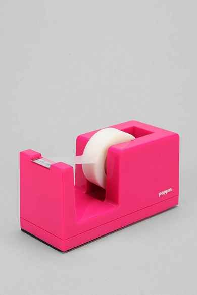 Poppin Tape Dispenser Tape Dispenser Pink Office Dispenser