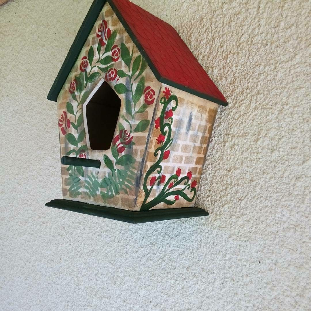 Ahşap Boyama Kuş Evi özlem Home Art Tasarimlarim Pinterest