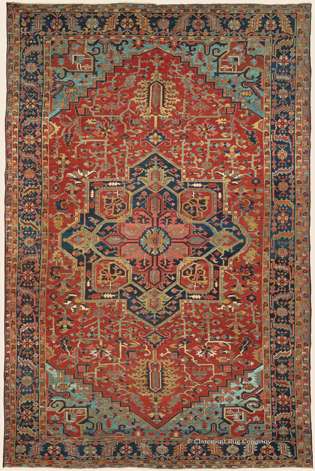 Heriz 11 10 X 18 2 Circa 1900 Northwest Persian Antique Rug Claremont Company Click To Learn More About This Orientalrugs