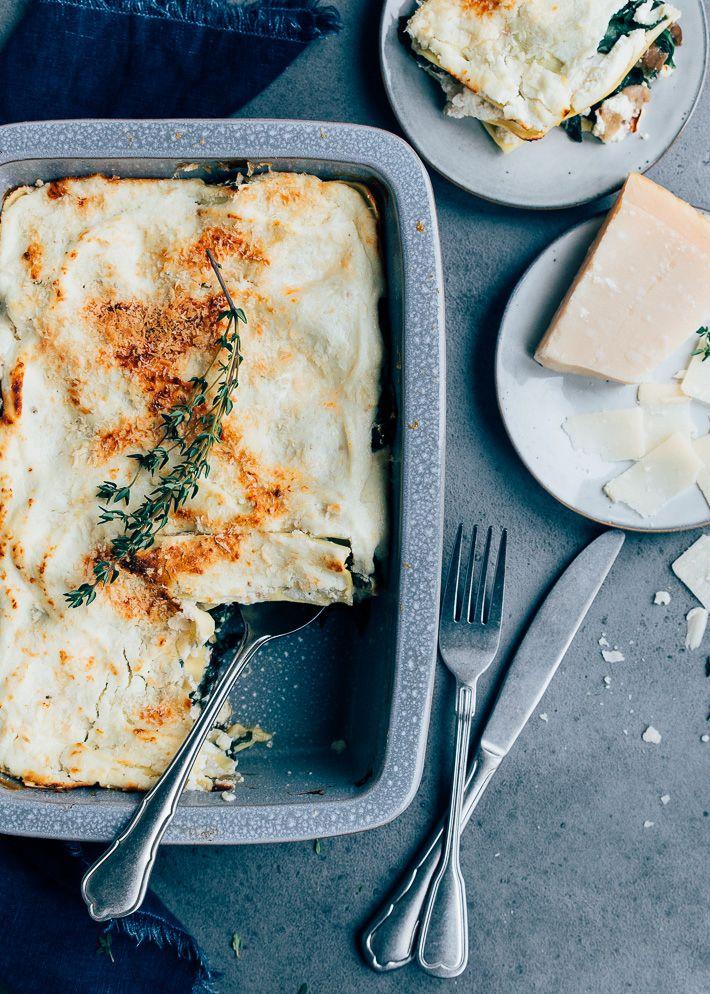Paddenstoelen Lasagne Met Ricotta Uit Pauline S Keuken Recept Voedsel Ideeen Lasagne Lekker Eten