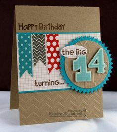 Handmade Birthday Card For Teenage Boys