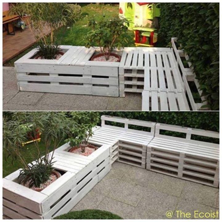Mobili da terrazzo in pallet eco arredo pinterest - Pallet arredo giardino ...