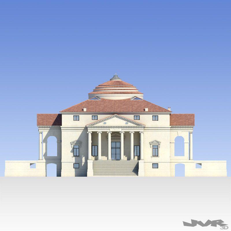 Villa Capra La Rotonda 3d Model Neoclassical Architecture
