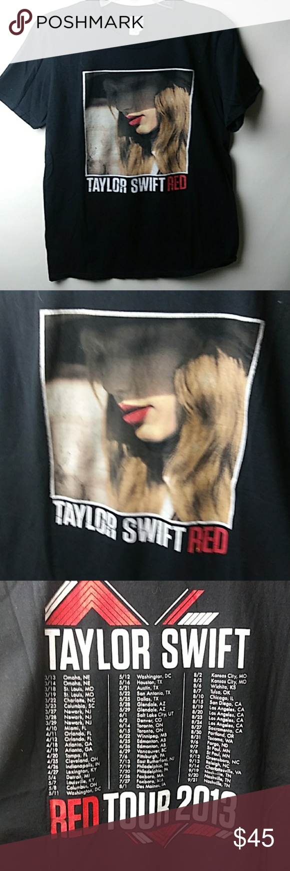 TAYLOR SWIFT RED TOUR T,SHIRT Taylor Swift concert Tour. T,Shirt Tailor SwiftRed tour Concert Tee Tops Tees - Short Sleeve #countryconcertoutfit