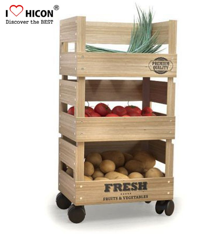 3 Layer Wooden Fruit And Vegetable Display Stand From Hicon Pop Displays Limited Fruit Storage Vegetable Rack Wood Diy