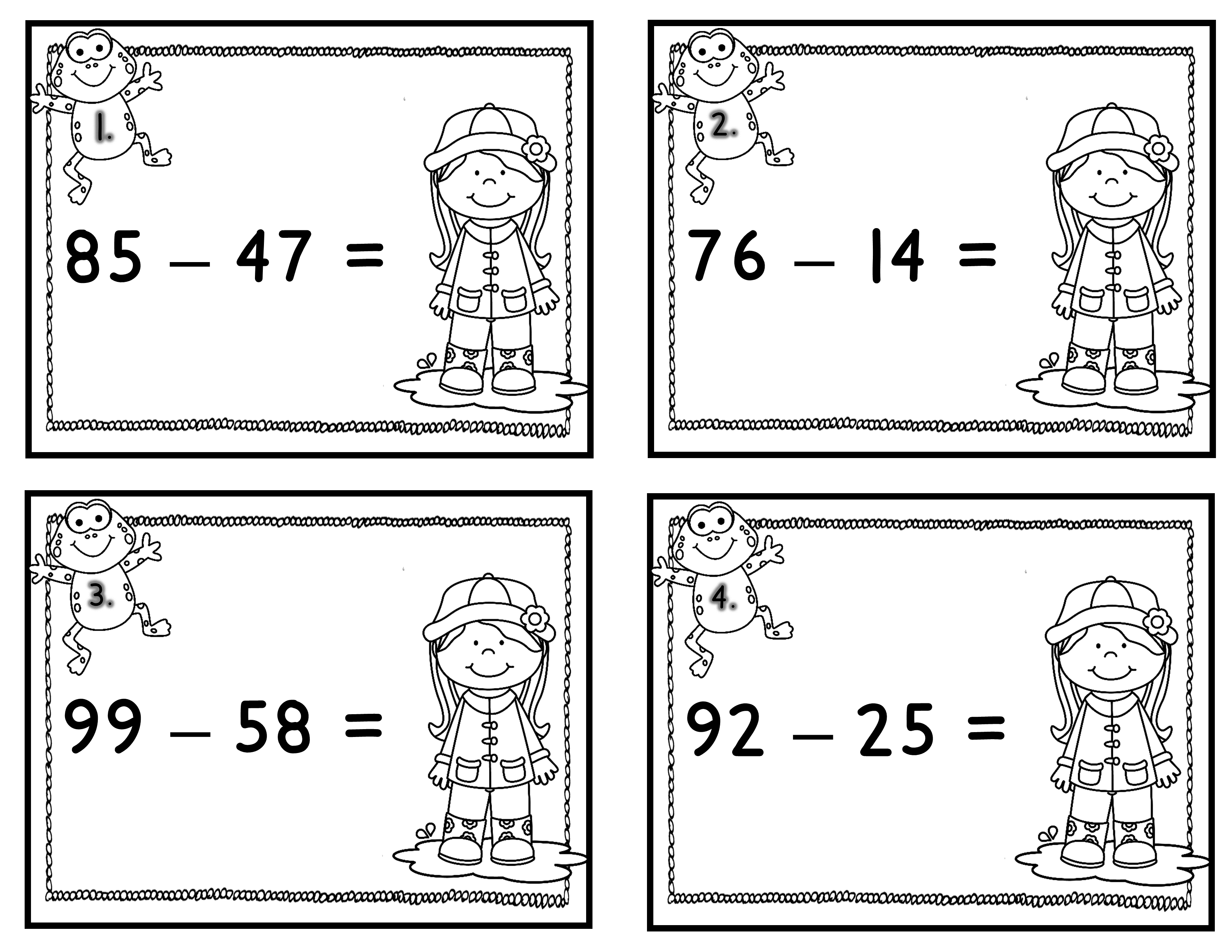 Differentiated Addition And Subtraction Centers Over The