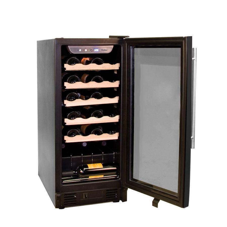 Haier 26 Bottle Black Wine Chiller Lowes Com Haier Wine Cooler Wine Cooler Wine Cellar