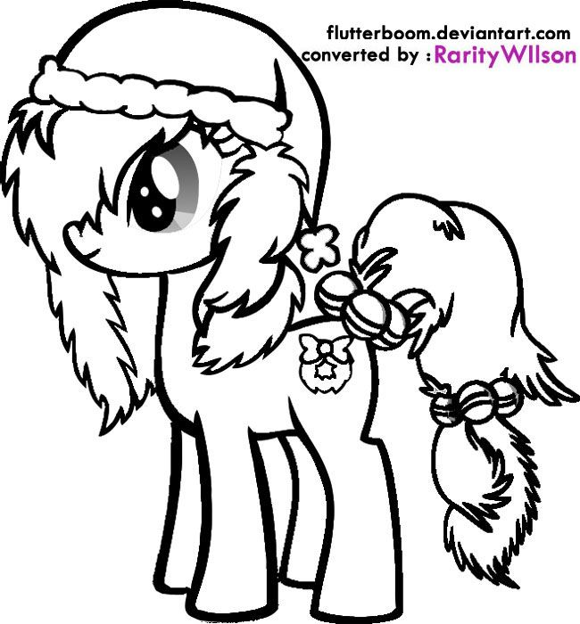 my little pony christmas coloring pages # 2