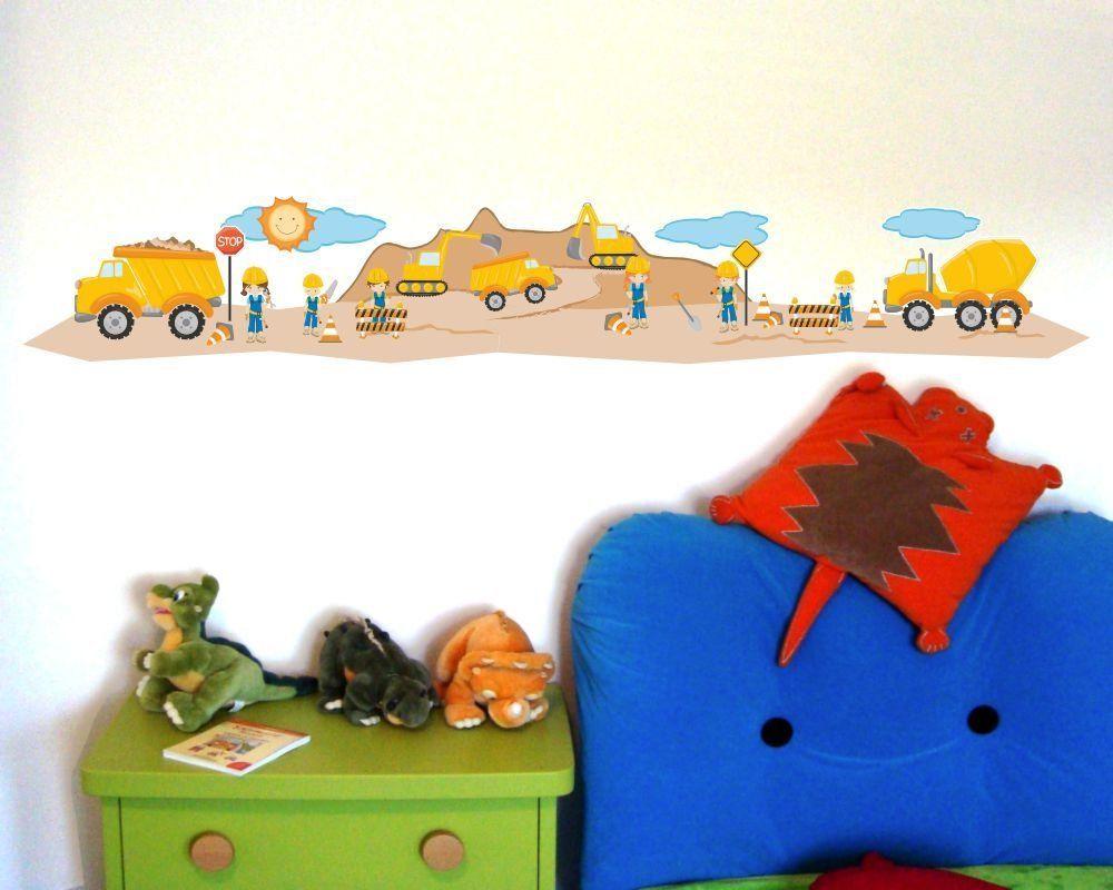 Wandgestaltung für das Kinderzimmer kleiner Bauarbeiter