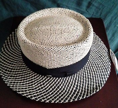 Scala Pro Gambler Hat L Xl New Men Panama Style Shady Straw Fedora Golf Gambler Hat Straw Fedora Hats