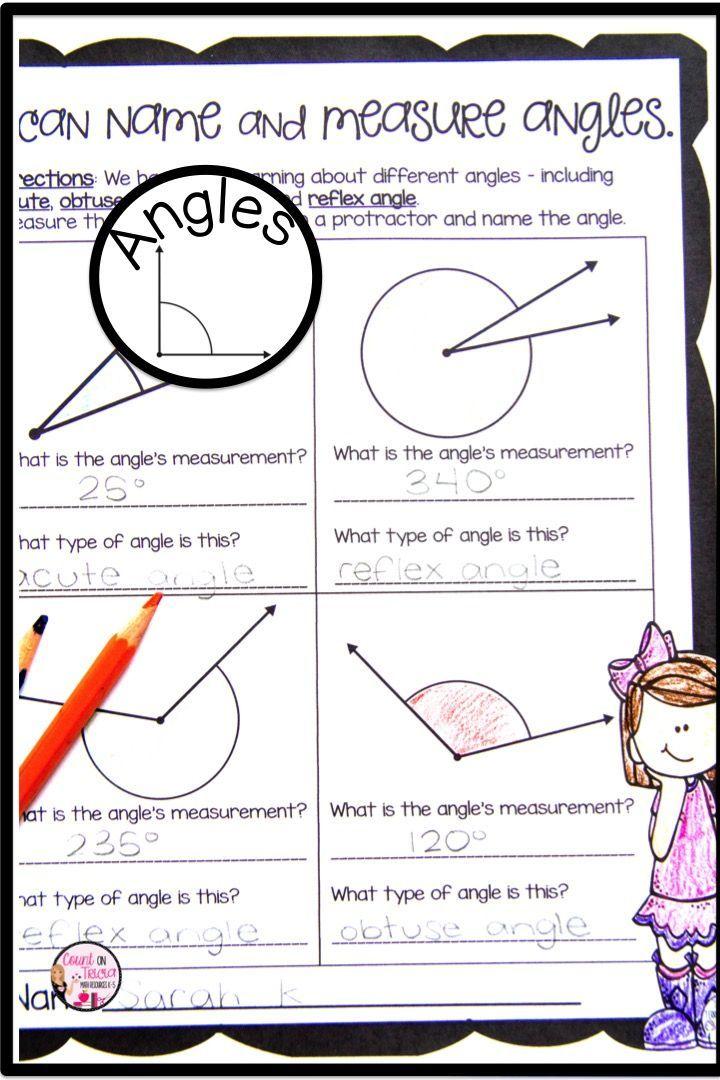 Measuring Angles Teaching geometry, Math stations, Math