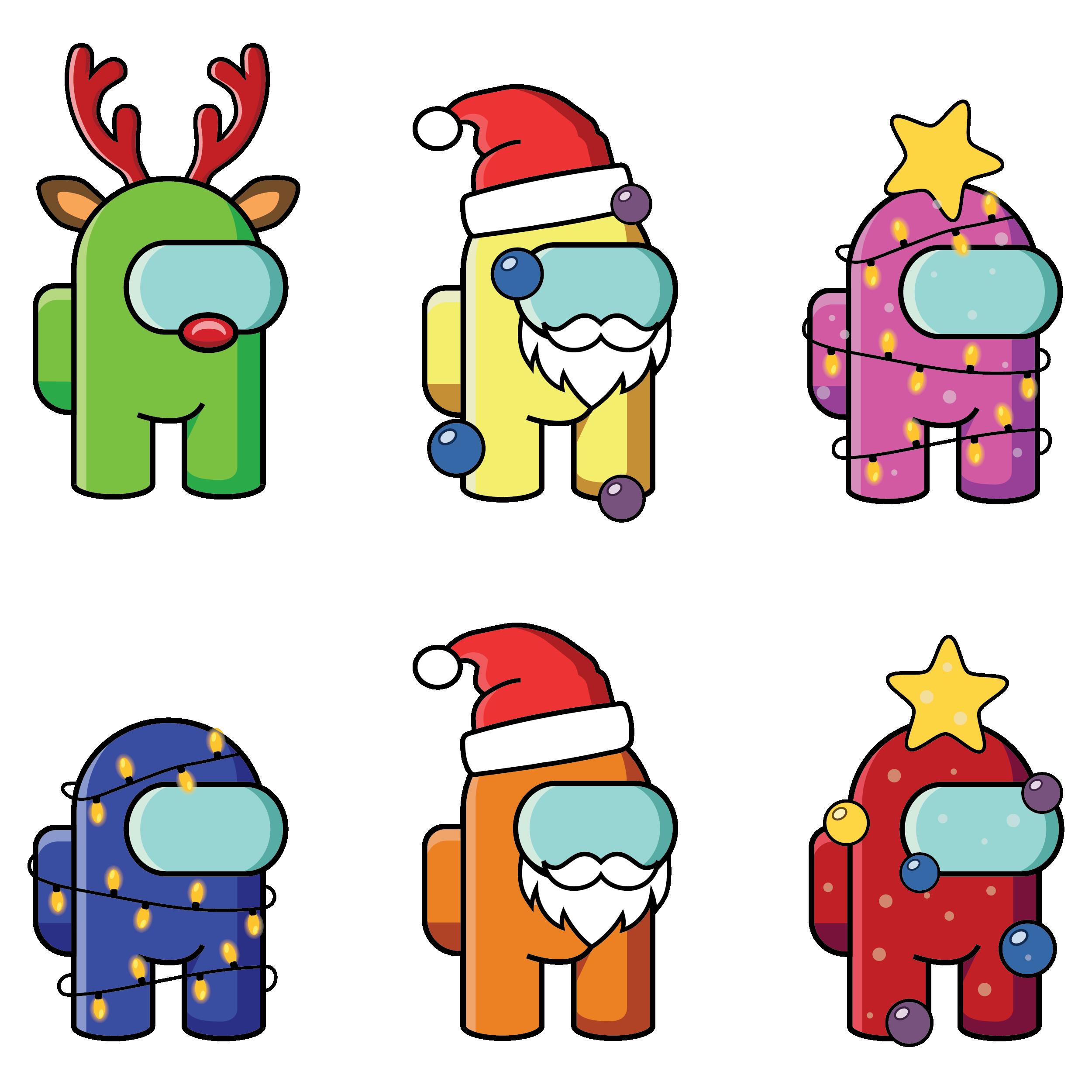70 Among Us Christmas Edition Pack Png Format Among Us Characters Clipart Among Us Merry Christmas Bundle Among Us Christmas Tree Cute Cartoon Wallpapers Cute Christmas Wallpaper Christmas Drawing