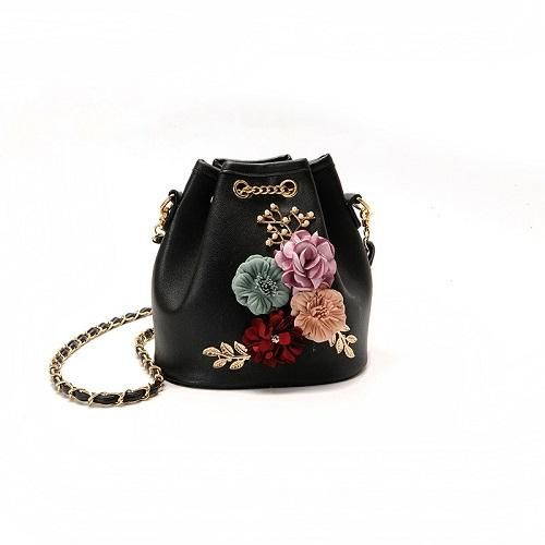 a14c64c130 Casual Floral Design Bucket Bag Women Summer Small Shoulder Bags Chain  Vintage Crossbody Bag