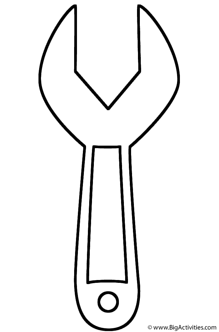 Wrench Coloring Page Tools Fathers Day Coloring Page Coloring Pages Toddler Arts And Crafts