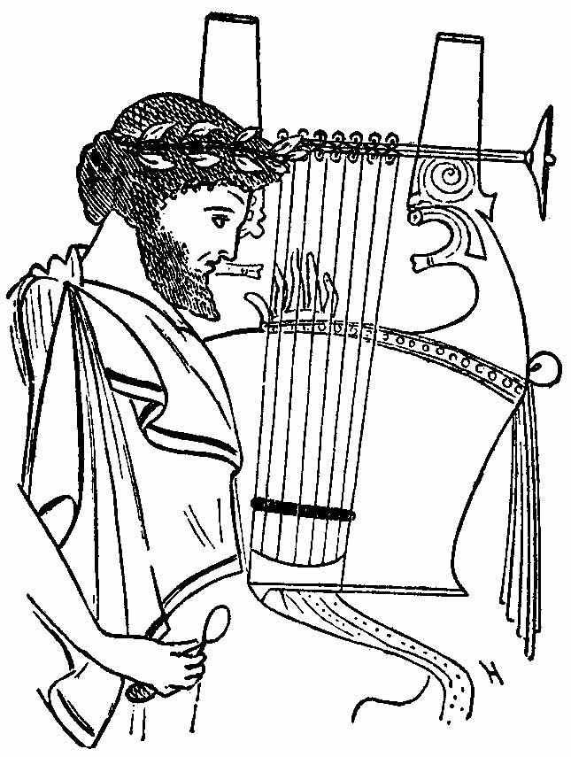 Kithara. Instrumento musical de cuerda pulsada usado principalmente ...