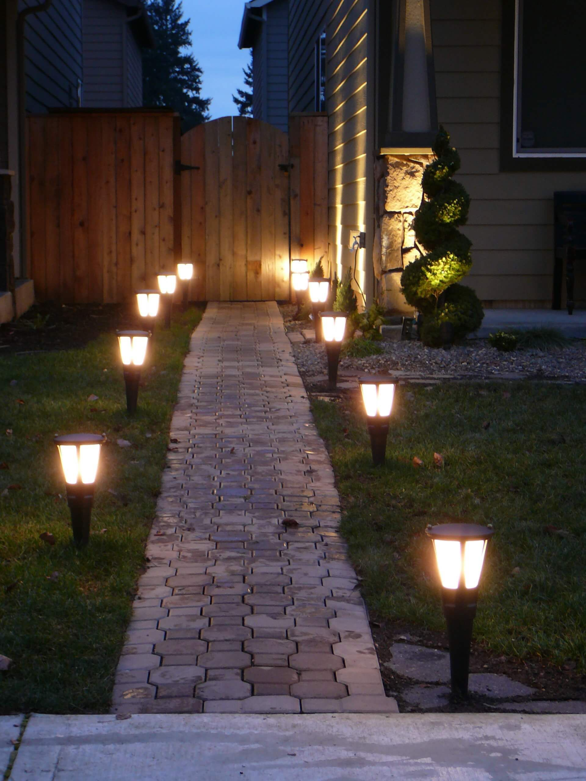 12 Smart Designs Of How To Makeover Backyard Solar Lighting Ideas With Images Landscape Lighting Brick Pathway Pergola Lighting