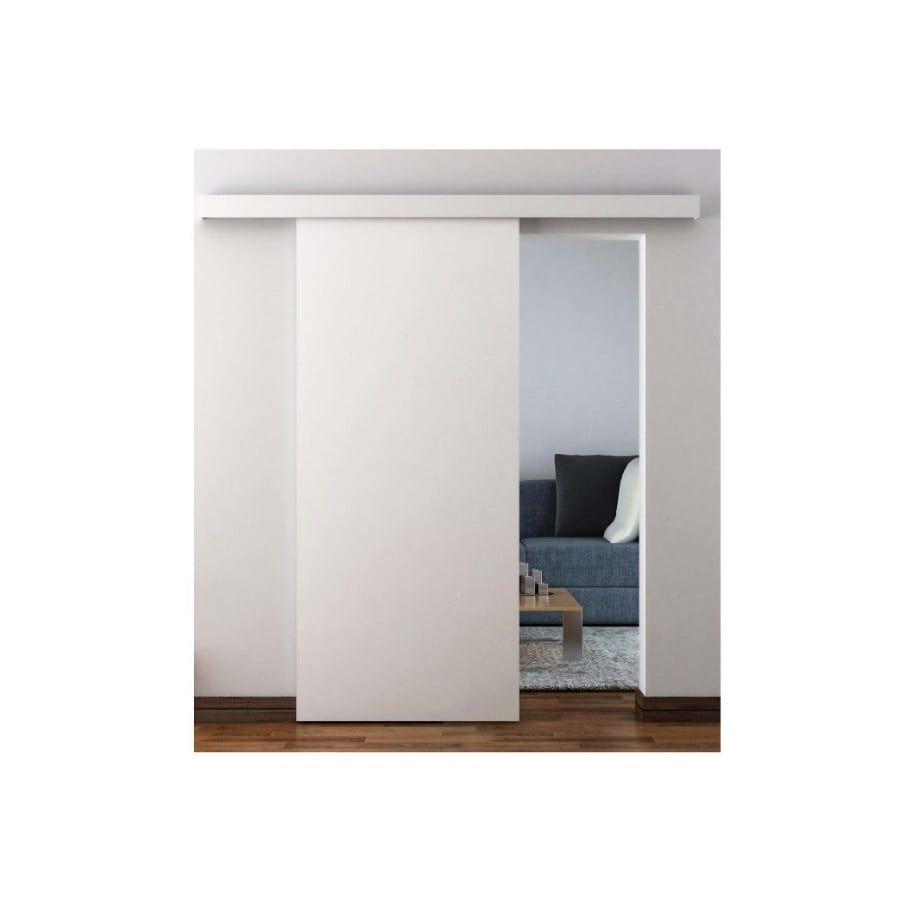 2460502MDFPVC, Traditional Sliding Barn Door Hardware For Suspended Wooden  Door, Concealed, Ensures Easy Installation Of A Standard Wooden Door.