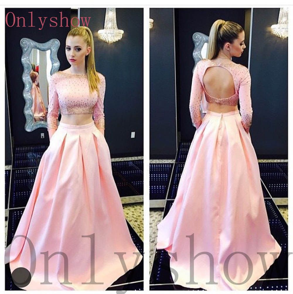 Two piece prom dress stunning prom dresses pinterest ball gown