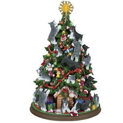 Miniature Schnauzer Christmas Tree Danbury Mint I am looking for one of  these trees!! - Miniature Schnauzer Christmas Tree Schnauzers & Fur Baby Info And