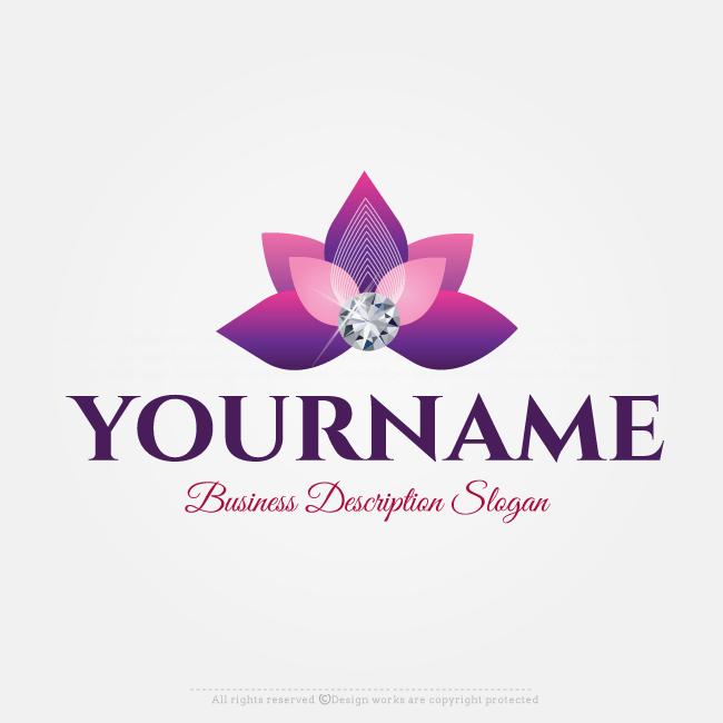 efa15abb9 Free Logo Maker - Flower Diamond logo design template