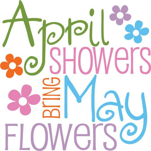 April Showers Bring May Flowers Spring Chalkboard: Burton Avenue: Freebie Friday - April Showers