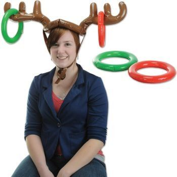 Fun Express Inflatable ELF HAT Ring Toss Christmas Party Game//Holiday Activity//INFLATE