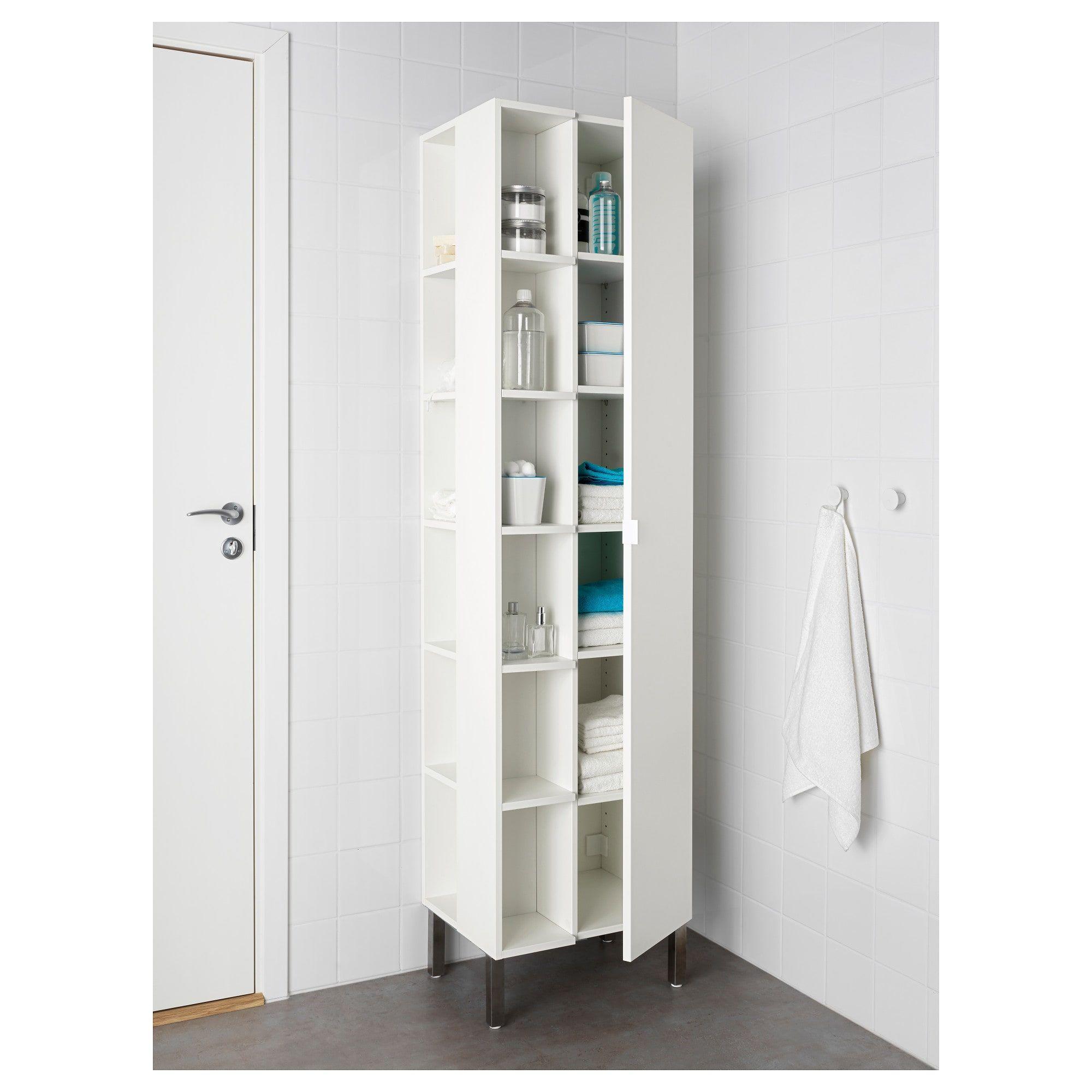 Lillangen Hochschrank 1 Tur 2 Abschlussregale Weiss Ikea