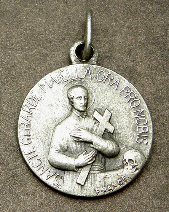 St gerard patron saint of fertility expectant mothers unborn st gerard patron saint of fertility expectant mothers unborn children antique french silver holy medal catholic gift pregnant women aloadofball Image collections
